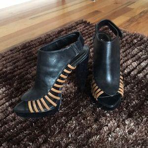 Black Open Toed Stilettos